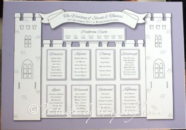 Printed Castle Table Plan